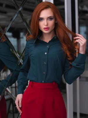 Сорочка темно-зелена | 3064325