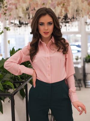 Рубашка цвета пудры | 3064330