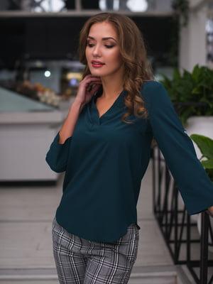 Блуза темно-зелена | 3171773