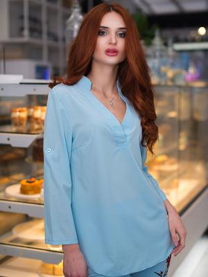 Блуза блакитна | 3171774