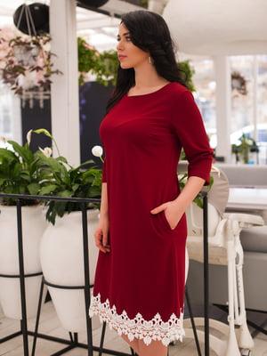 Платье бордовое   3639035