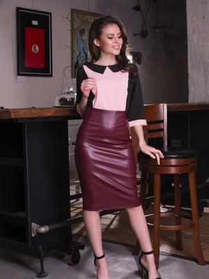 Блуза двоколірна | 4613552