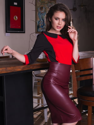 Блуза двухцветная | 4613554