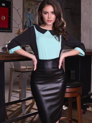 Блуза двоколірна | 4613555