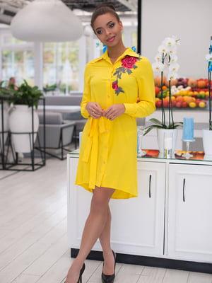 Платье желтое | 4613577