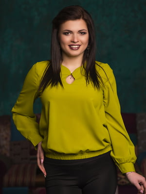 Блуза оливкового цвета | 4613922