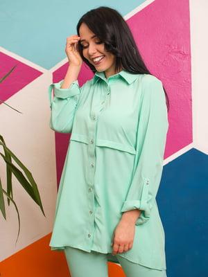 Рубашка мятного цвета | 4613937