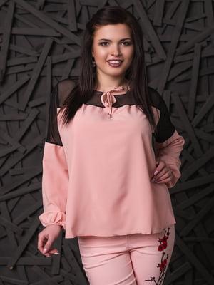 Блуза кольору пудри | 4613986