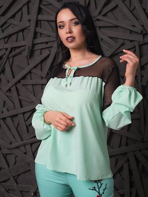 Блуза мятного цвета | 4613990