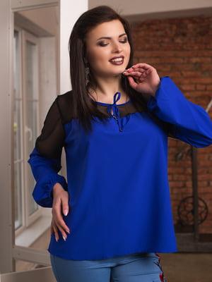 Блуза кольору електрик | 4613991