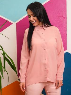 Рубашка цвета пудры | 4614051