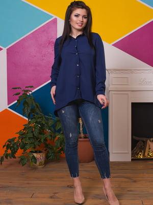 Рубашка темно-синяя | 4614053