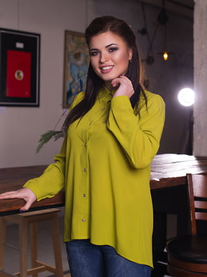 Рубашка оливкового цвета | 4614055