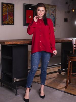 Рубашка бордовая | 4614056