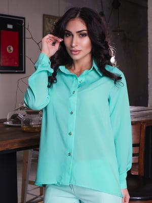 Рубашка мятного цвета | 4615509