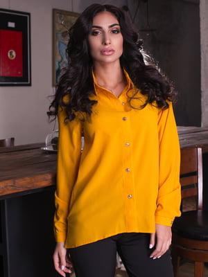 Рубашка горчичного цвета | 4615589