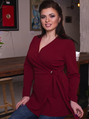Блуза бордовая   4669865