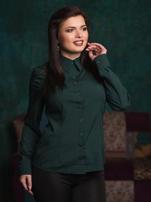 Сорочка темно-зелена | 4770553