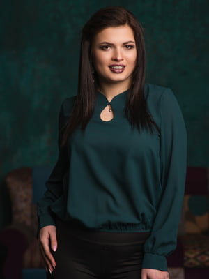 Блуза темно-зелена | 4950182