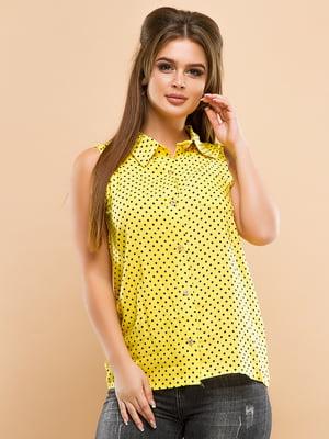 Сорочка жовта в горошок | 4950186