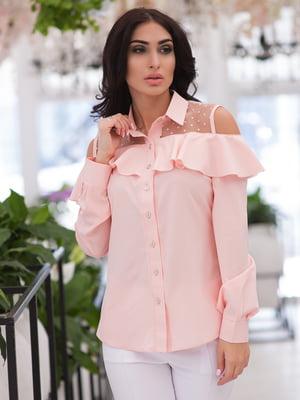 Рубашка цвета пудры | 4950238