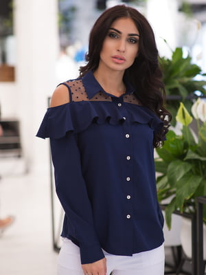 Рубашка темно-синяя | 4950240