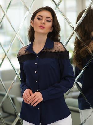 Рубашка темно-синяя | 4950249