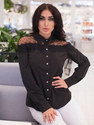 Рубашка черная | 4950250