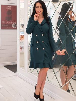 Платье темно-зеленое | 4950267