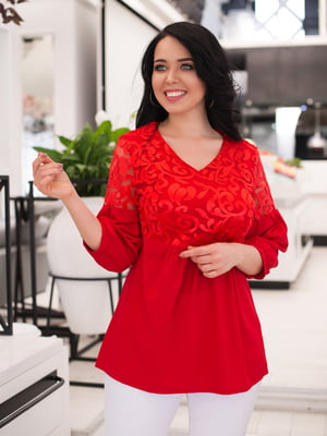 Блуза красная   4950270