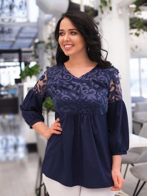Блуза темно-синяя   4950272
