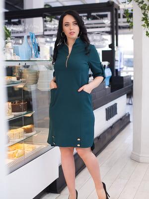 Платье темно-зеленое   4950287