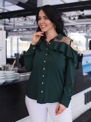 Сорочка темно-зелена | 4950292