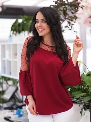 Блуза бордовая | 4950296