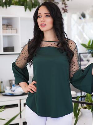 Блуза темно-зелена | 4950298