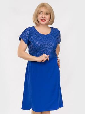 Сукня кольору електрик | 4950450