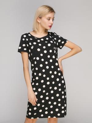 Платье черное в горох | 4921926