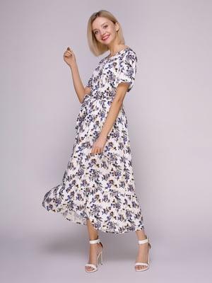Сукня біла в квіти   4951624