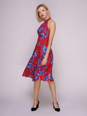 Сукня червона в квіти | 4951625