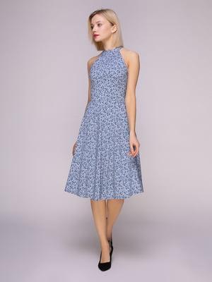 Сукня сіро-блакитна в квіти   4951626