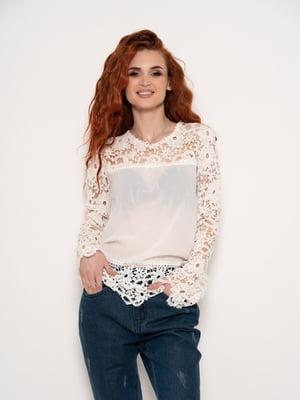 Блуза молочного кольору | 4903801