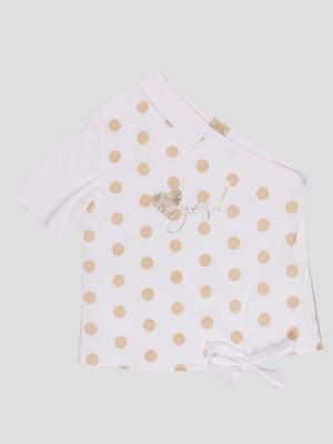 Блуза біла в горошок   4781142