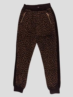 Штани в леопардовий принт | 4781566