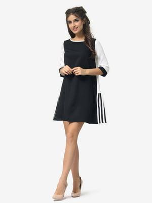 Сукня молочно-чорна | 4958152