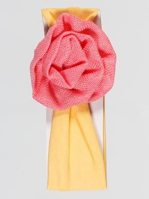 Пов'язка на голову жовта   4918764