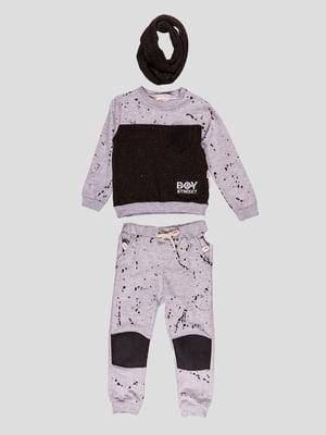 Костюм: світшот, штани і снуд | 4918724