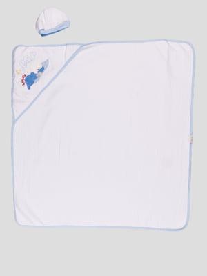 Комплект: уголок-полотенце с капюшоном для купания и шапочка | 3702179