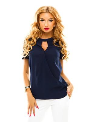 Блуза темно-синяя | 4615898