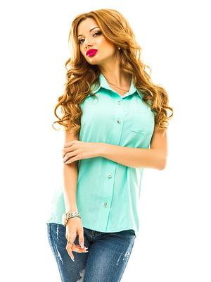Рубашка бирюзовая | 4655346