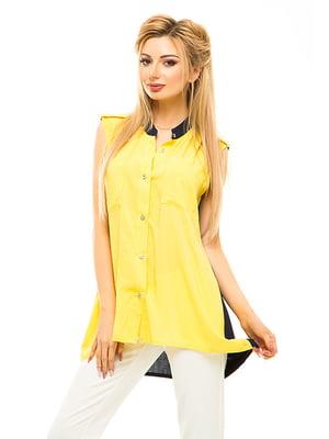 Блуза двоколірна | 4655552